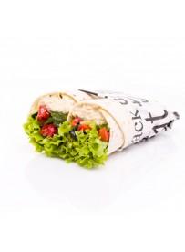 Wrap hummus en geroosterde groente