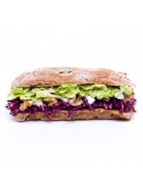 Vegan fig bun red cabbage salad