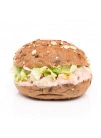 Mini whole grain bun with tuna salad