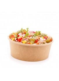 Lunchsalade tonijn met pasta, rode ui, komkommer en paprika