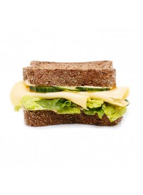American sandwich with country cheese and mustard cream