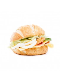 Italian bun with ham, cheese and vegetables